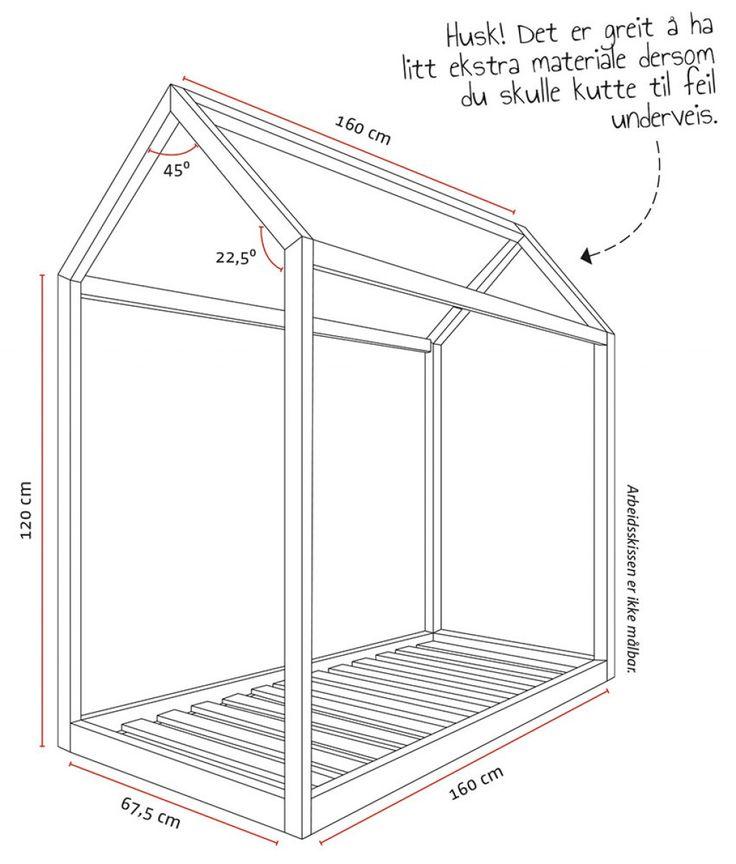 Er det på tide å bytte ut sprinkelsengen med en større barneseng? Vi viser deg hvordan du enkelt kan bygge en leken barneseng som ser ut som et hus!