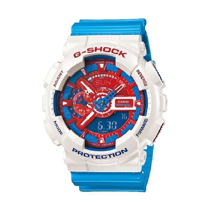 บอกเลยว่าๆๆใช่<SP>Casio g-shock นาฬิกาข้อมือ รุ่น GA-110AC-7ADR Limited Edition  (สีขาว/ฟ้า)++Casio g-shock นาฬิกาข้อมือ รุ่น GA-110AC-7ADR Limited Edition (สีขาว/ฟ้า) (5 รีวิว) กระจกมิเนอรัล ทนทานต่อคลื่นแม่เหล็ก ทนทานต่อแรงสั่นสะเทือน 3,590 บาท -31% 5,200 บาท มีร้านค้าเพิ่มเติมจาก 3,690 บาท  ...++