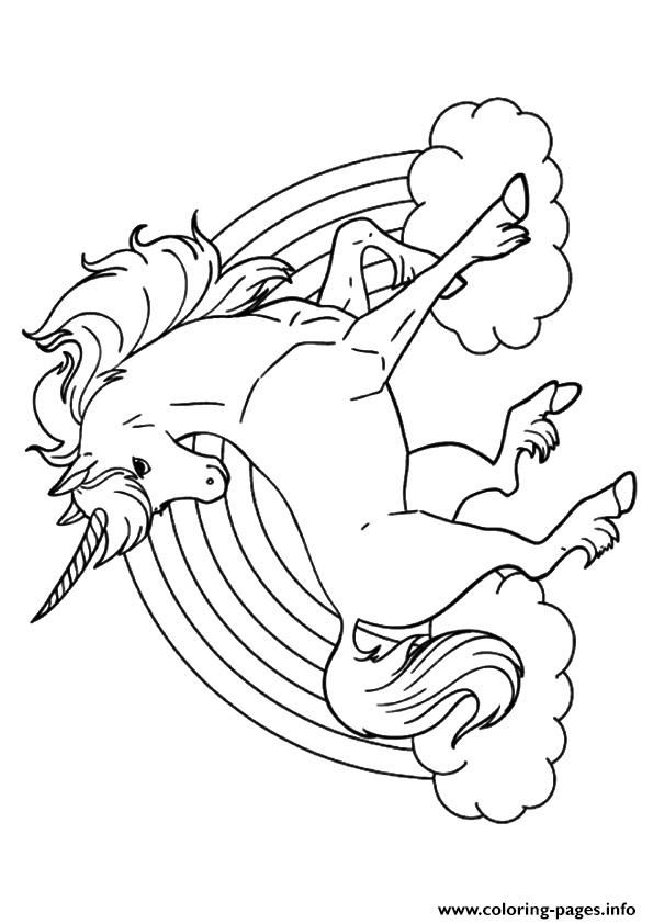 Rainbow Unicorn Unicorn coloring pages | Unicorn coloring ...