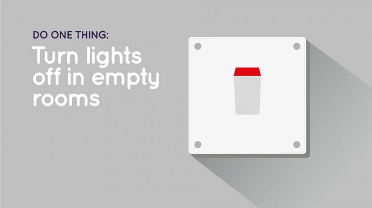 'Turn lights off in empty rooms' cover image