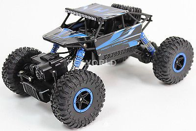 ﹩26.99. RC 1/18 MICRO ROCK CRAWLER RC Truck 4x4 CRAWLER 2.4ghz BLUE *RTR* *Assembled*    Type - Trucks, Fuel Source - Electric, State of Assembly - Ready-to-Go, Scale - 1:18, Year - 2015,