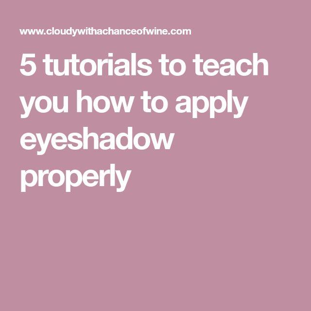 5 tutorials to teach you how to apply eyeshadow properly #howtoapplyeyeshadows