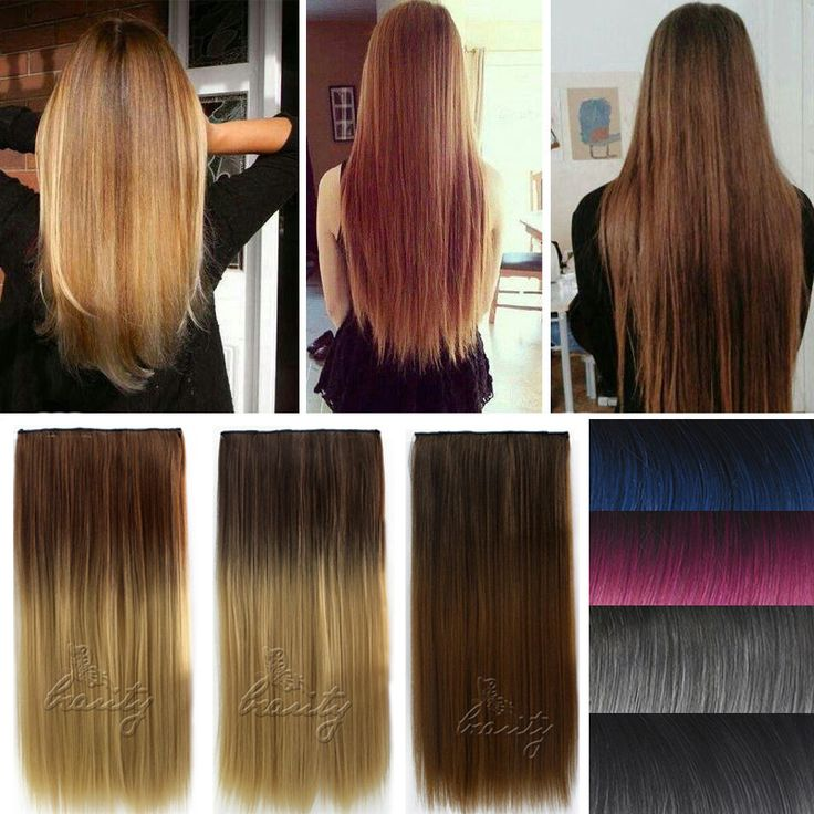 Neverland 60cm 5 Clips Straight Ombre Synthetic False Hairpiece Clip in One Piece Hair Extensions For. Click visit to buy #SyntheticExtensions