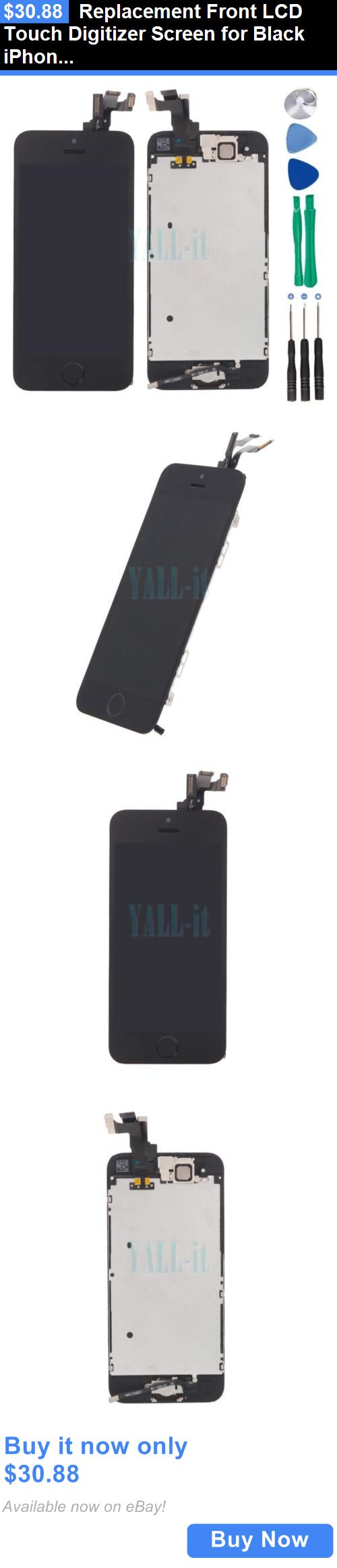 general for sale: Replacement Front Lcd Touch Digitizer Screen For Black Iphone Se/5S W/Button BUY IT NOW ONLY: $30.88