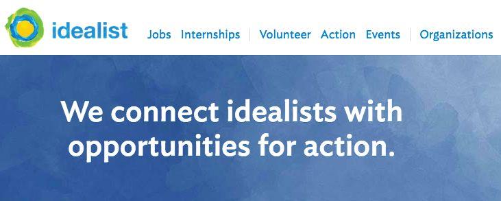 Idealist.com   Volunteer, jobs, internships abroad