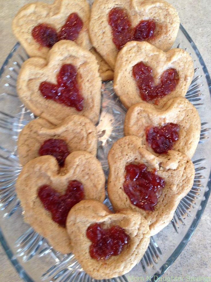 Valentine PB & J Heart Cookies | Recipe