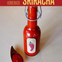 What is Sriracha? (Prounounced: Sir-rach-a)  Sriracha is a type of hot sauce made from a paste of chili peppers, distilled vinegar, garlic, sugar, and salt. It has a sweet and spicy flavor and was popularized by Huy Fong Foods (you know, the bottle with the big red rooster on it.) The sauce iscolloquially