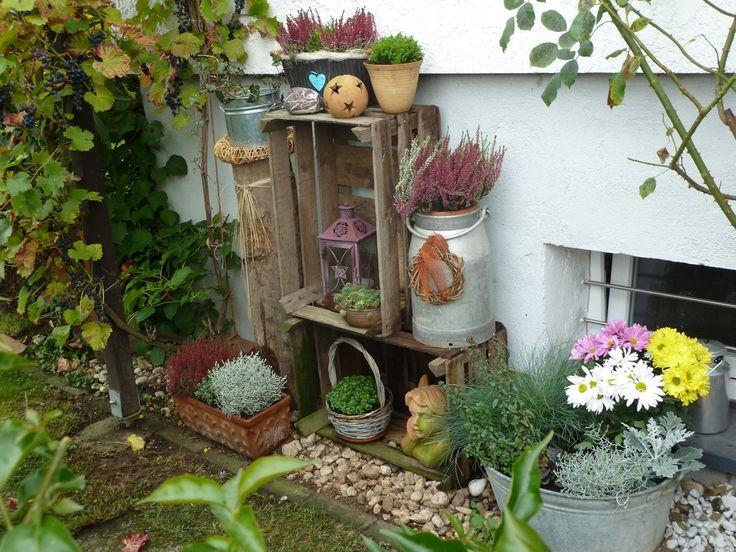Herbstdeko im Garten - Bilder und Fotos