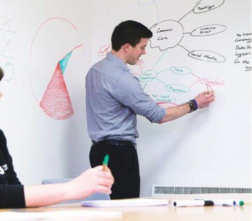 45200Cm Removable Whiteboard Sticker Message Boards Kids Office Home Decor +Pen