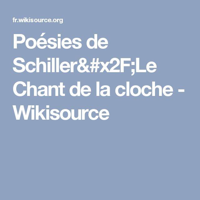 Poésies de Schiller/Le Chant de la cloche - Wikisource