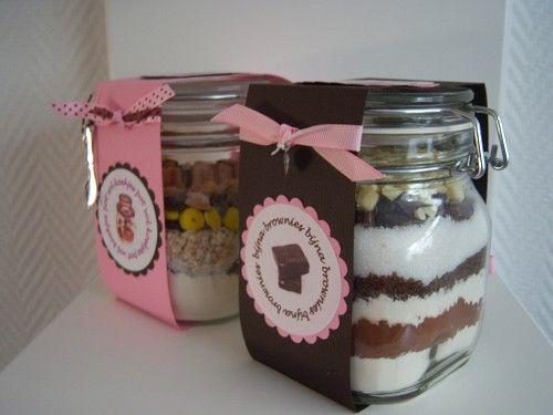Voorbeeldkaart - pot vol koekjes en bijna browniepot - Categorie: Kado verpakking - Hobbyjournaal uw hobby website