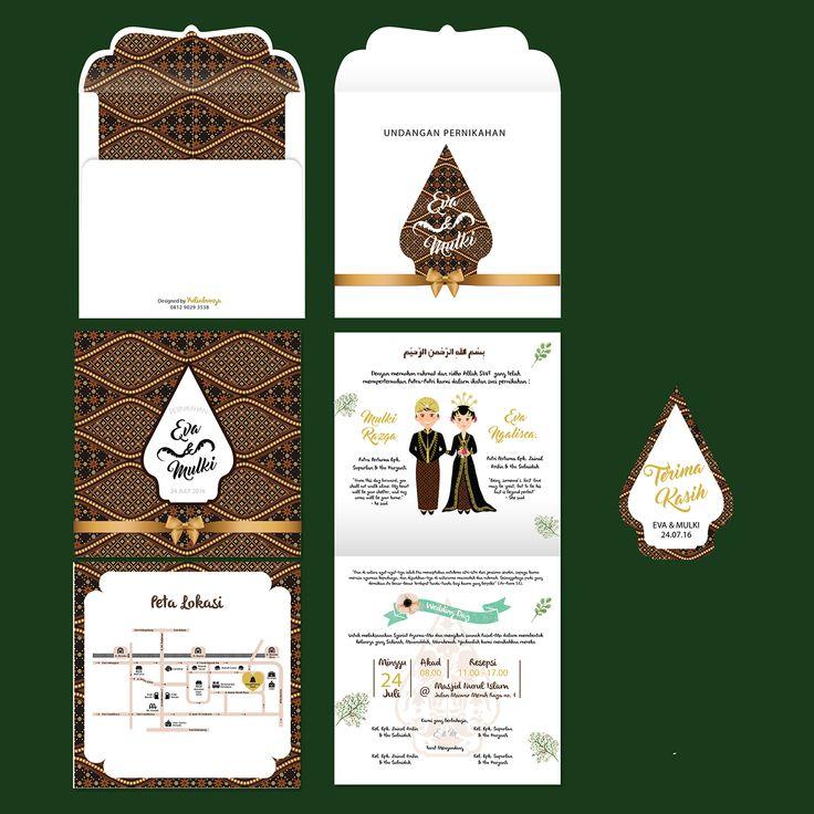 Wedding Invitation Traditional Indonesia