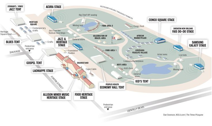 New Orleans Jazz Fest 2014 map of the Fair Grounds, music and food best bets | NOLA.com