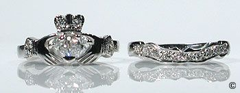 Irish Claddagh Engagement Ring. Never seen it as an engagement ring. Dont know of I like it...