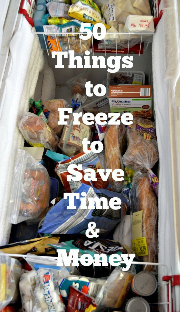 50 Things to Freeze to Save Time and Money - The Smart and Frugal Path - http://www.thesmartandfrugalpath.com/50-things-to-freeze-to-save-time-and-money/?utm_campaign=coschedule&utm_source=pinterest&utm_medium=Uprising%20Wellness