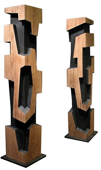 Alban lanore sculptures contemporaines totem colonne inspiration sculpture pinterest - Sculptures modernes contemporaines ...