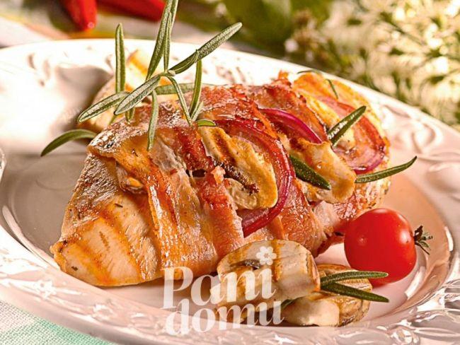 Kurczak z pieczarkami z grilla