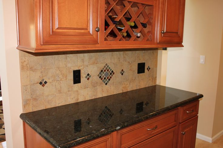 Backsplash around Bar area