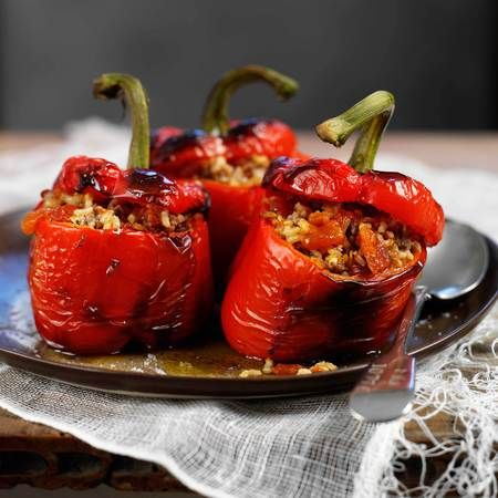 Awesome Recipe: ostrich stuffed peppers