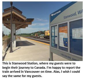 [The following is a true story.] Here's a tip you might want to jot down: When your guests from Argentina want to hit the rails to Vancouver departing from Stanwood, Washington, the closest town to…from Tim Jones #humor #humoroutcasts #travel #funny