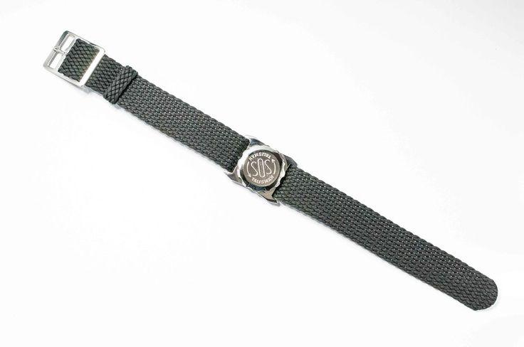 Men's stainless steel SOS Talisman watchband