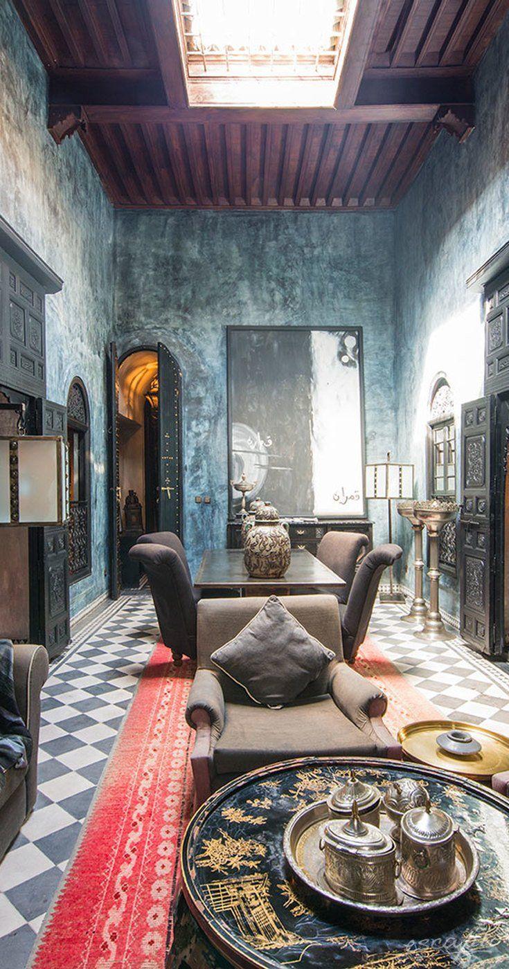 Berühmt Erstellen Exotische Inneneinrichtung Marokkanischen Stil ...