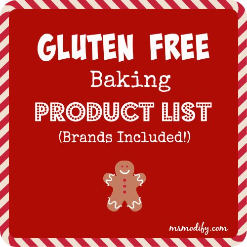 Gluten Free Baking Product List