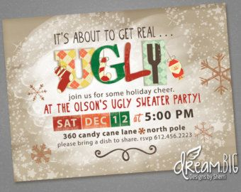 Items similar to Holiday Ugly Sweater Party Invitation on Etsy