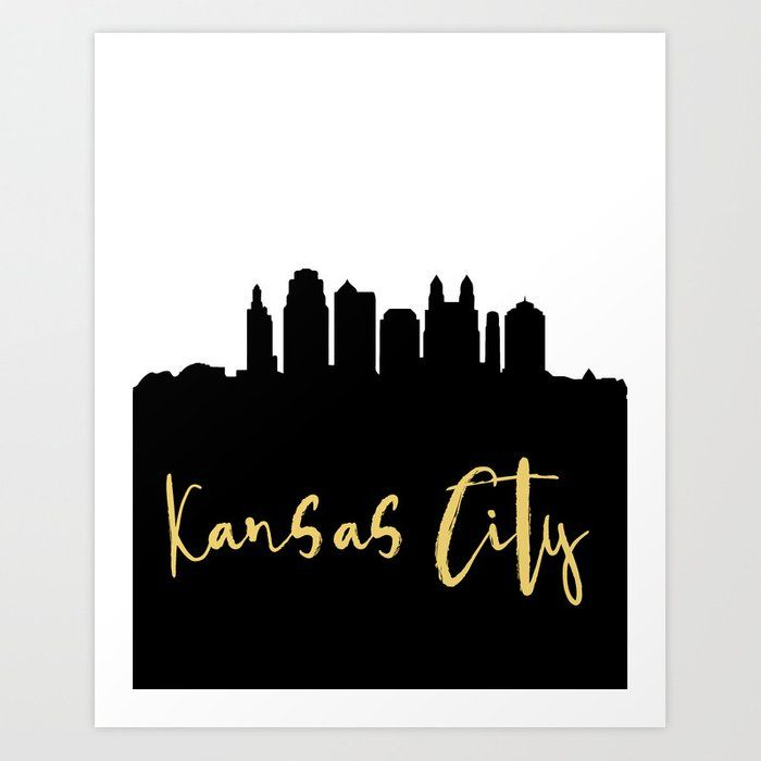Kansas City Missouri Designer Silhouette Skyline Art In 2020 Skyline Art City Skyline Art Kansas City Missouri