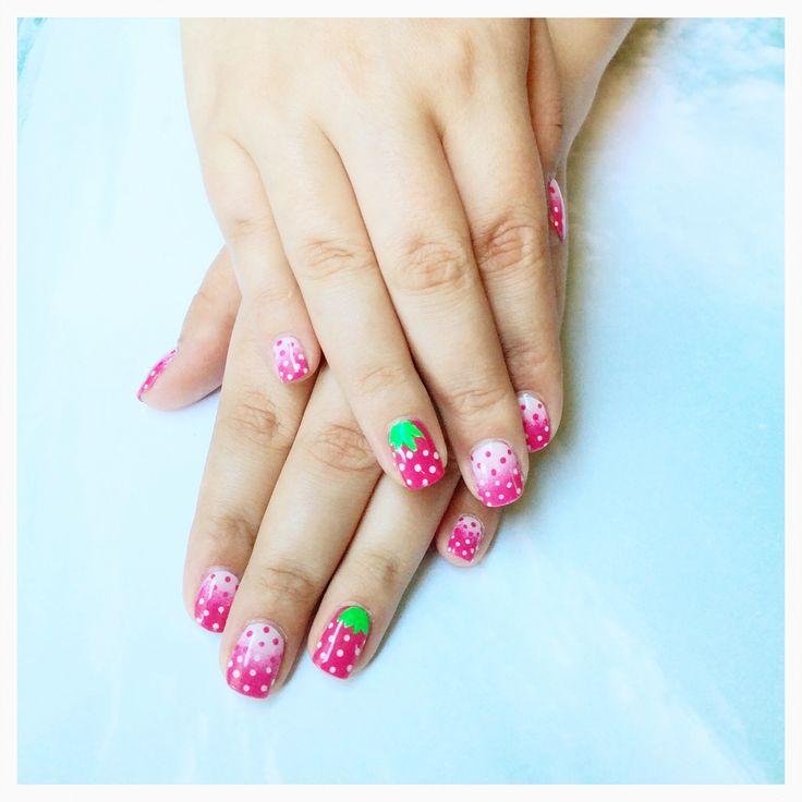 Frutillas, nail art
