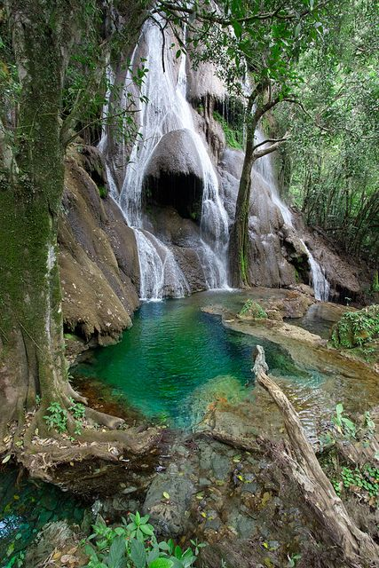 Waterfall in Bonito, Mato Grosso do Sul, Brazil