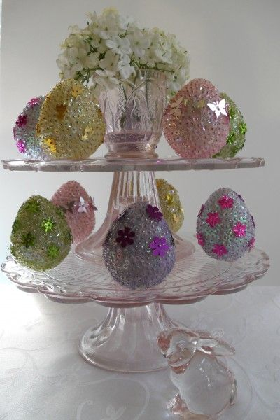 How to Make Sequin Easter Eggs