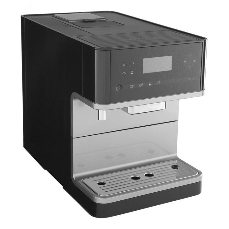 Cafetera Miele para capuchino espresso y café americano cuenta con tecnología One Touch for Two para preparar dos bebidas al mismo tiempo botón de encendido y apagado bandeja de goteo extraíble 4 perfiles de usuario que permiten configurar las prefere