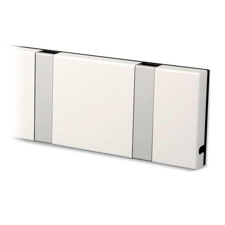 LoCa - Knax 10 Garderobenleiste, weiß Weiß T:7 H:1 B:99