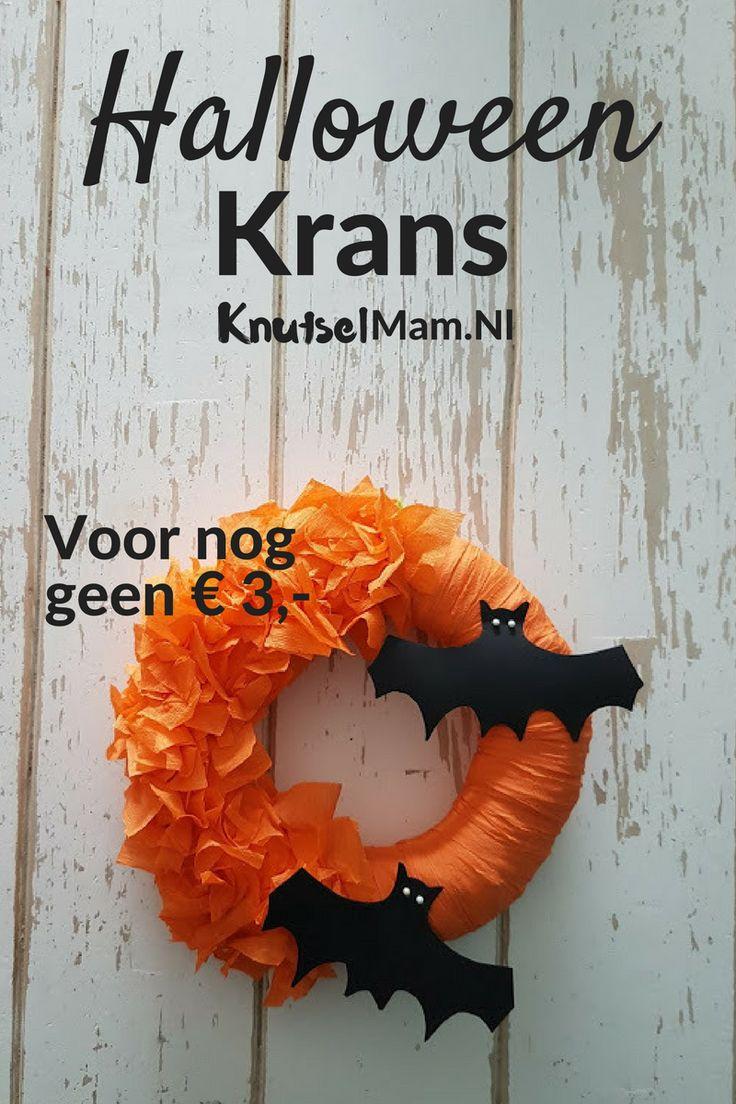 Halloween krans Voor nog geen €5 ,- KnutsleMam.NL