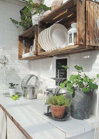8 tips para decorar tu cocina con huacales (guacales) y palets 12b681b5de4b