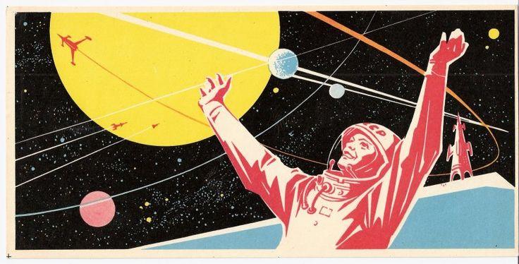 Manned lunar landing matchbox label, 1963