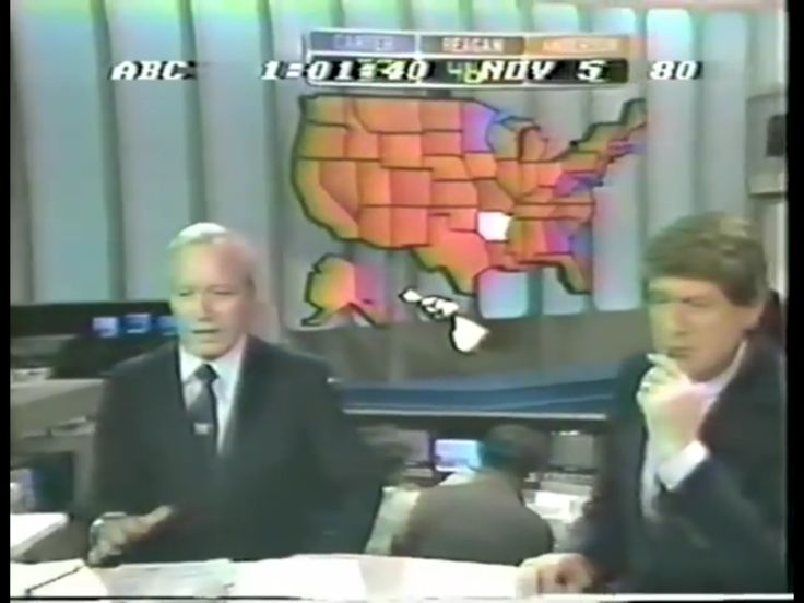 1980 presidential election night coverage