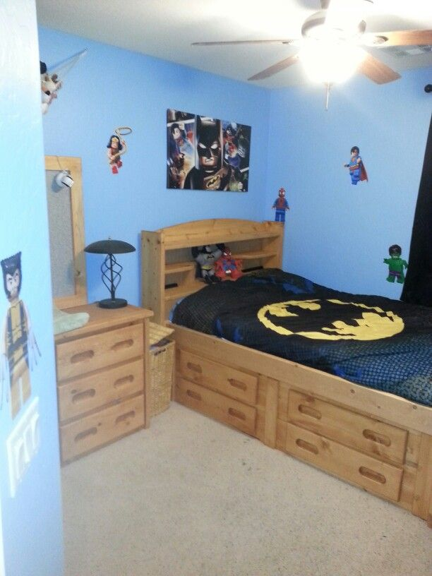chases super hero lego roomgot the lego decals on ebay