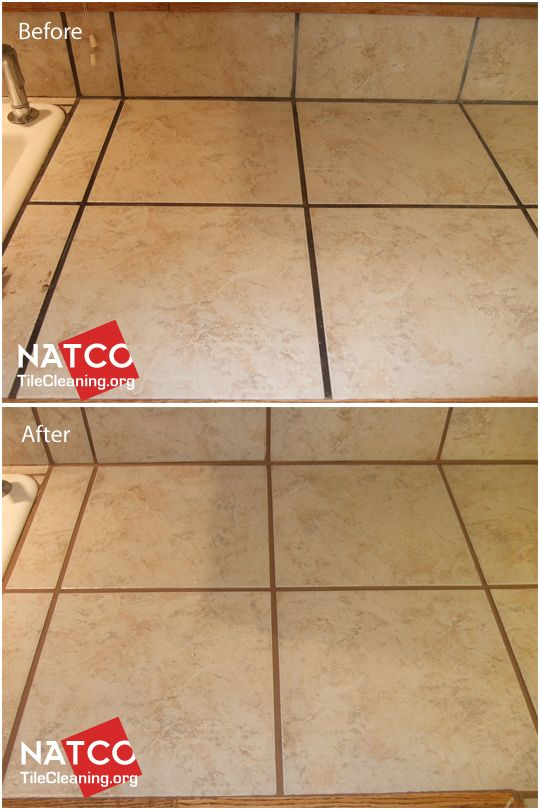Using a tan or light brown colored grout colorant to seal and recolor countertop grout.