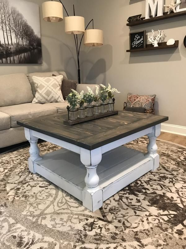 Rustic Baluster farmhouse Coffee Table provincial …