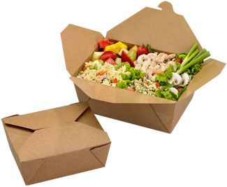 Bio Plus Earth - to go food containers. Bio-Plus® Earth food containers are made from 100% recycled paper using 35% or more post-consumer recycled paper.    As a 100% recycled product, Bio-Plus Earth gives a second life to the paper from which it is made.    Bio-Plus Earth is processed chlorine free .    Bio-Plus Earth is endorsed by the Green Restaurant Association, and the endorsement logo is printed on   the bottom of every container.