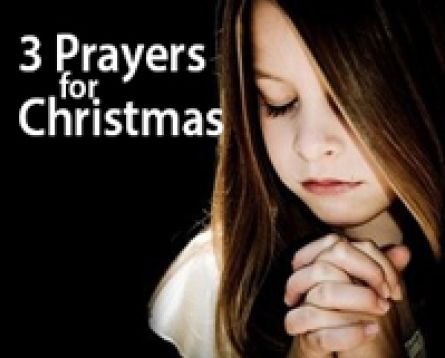 Here are three Christmas prayers to incorporate into your lessons with children this season. #kidmin #sundayschool