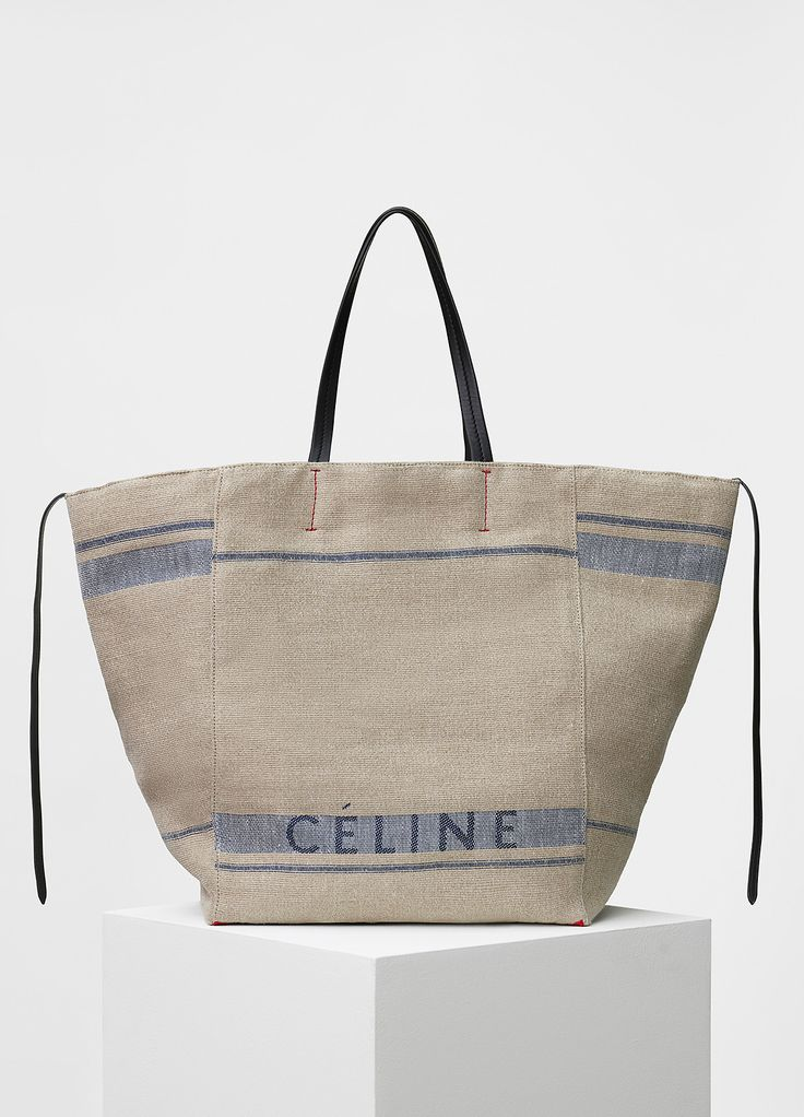 Large Cabas Phantom in Beige Céline Canvas
