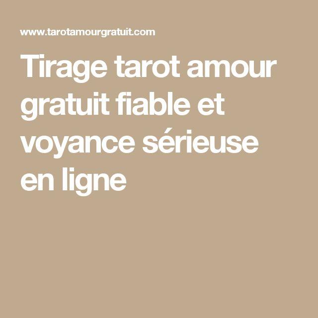 Tirage tarot amour gratuit fiable et voyance sérieuse en ligne