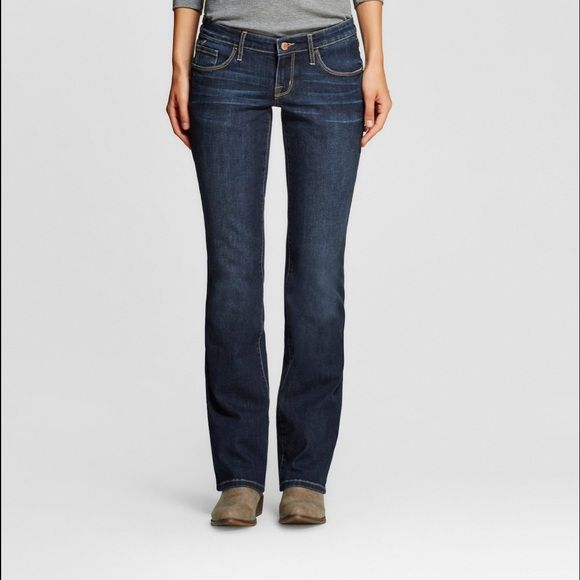 Dark blue jeans New without tags, slightly darker than pic #1. Dark blue denim. Mossimo Supply Co Jeans Boot Cut