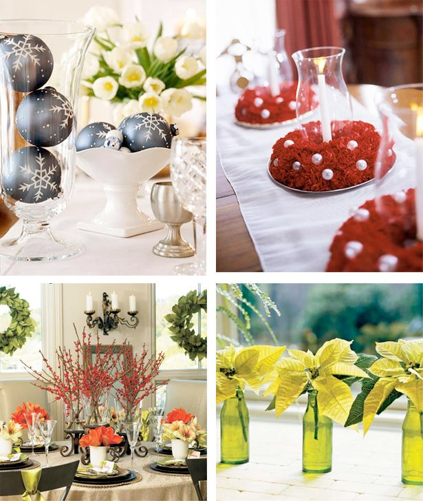 Different Christmas Table Center Pieces