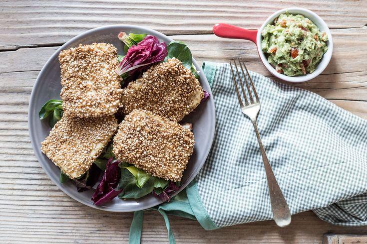 Una ricetta semplice semplice e super veloce per questo tofu impanato con quinoa soffiata, preparata dal nostro chef Martino Beria.