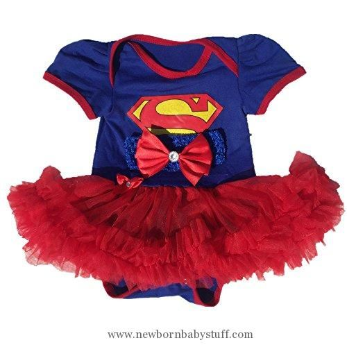 Baby Girl Clothes Starkma Supergirl Newborn Infant Baby Girl Set Clothe Cake Dress S01 (S(0-3month)),White,S(0-3month)