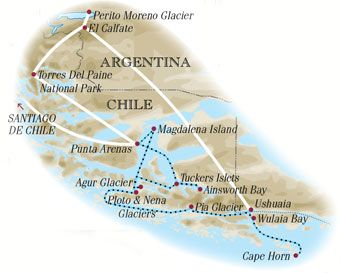 Best Cape Horn Scenic Cruising Images On Pinterest - Argentina cape horn map